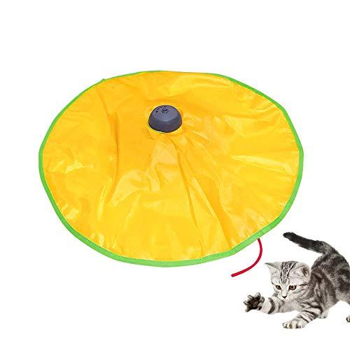 Amakunft Elektronisches Katzenspielzeug, Katzenspielzeug, interaktives Spielzeug für Katze oder Kätzchen, verstellbar, batteriebetriebenes Spielzeug