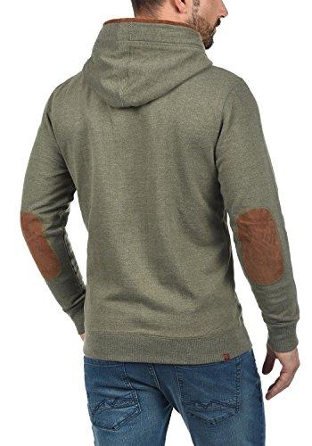 BLEND Alesso Herren Sweatjacke Jacke Zip-Hoodie mit Kapuze und optionalem Teddy-Futter aus hochwertiger Baumwollmischung Ivy Green (77026)