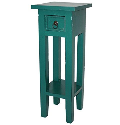 LioLiving®, Telefonkonsole Orkney im Vintage-Look aus Mahagoniholz (pastellgrün) (#400190) -