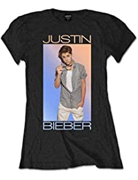 Justin Bieber Album Cover Fade Belieber Tour Black Womens T-shirt