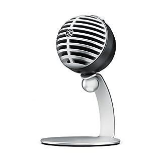 Shure MV5-LTG - Digitales Kondensatormikrofon für hochwertige Audioaufnahmen mit USB- & Lightninganschluss für PC, Mac, iOS- & Android-Geräte - Silber