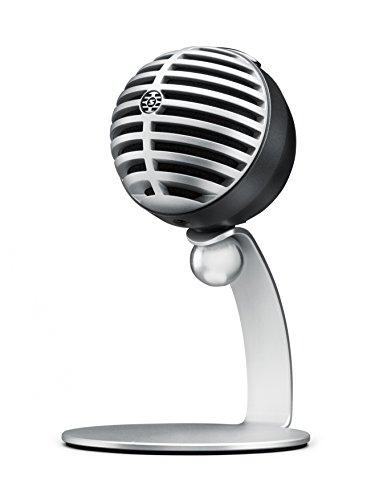 Shure MV5-LTG - Digitales Kondensatormikrofon für hochwertige Audioaufnahmen mit USB- & Lightninganschluss für PC, Mac, iOS- & Android-Geräte - Silber - Aluminium-serie Laptop