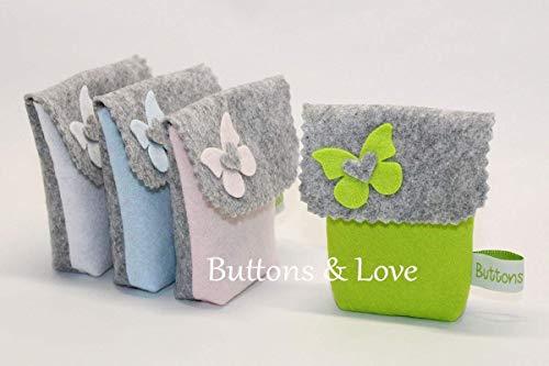 Un pezzo bustina sacchetto bomboniera porta confetti battesimo comunione o cresima vari colori