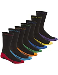 Mens Novelty Socks 7 Pairs Pack Multipack Days Of The Week Coloured PIERRE ROCHE
