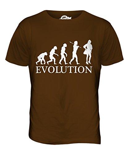 CandyMix Mode Evolution Des Menschen Herren T Shirt Braun