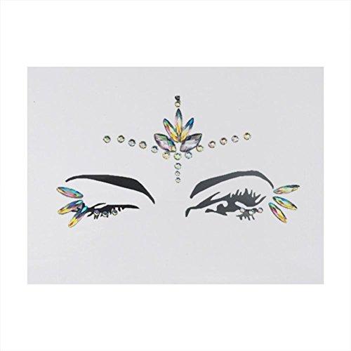 Gesicht Edelsteine,Temporäre Tattoos Gesichts Aufkleber,Schmucksteine Selbstklebend Gesicht,Glitter Bindi Strass Juwelen Face Tattoo Face Sticker für Glitzer ()