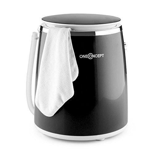 oneConcept Ecowash Pico Waschmaschine Mini-Waschmaschine (380 Watt, 3,5 kg Kapazität, Schleuderfunktion, Timer, Tragegriff) schwarz