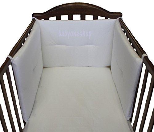 Willy & Co. Tour de lit d'enfant sur trois côtés nouvelles couleurs, fabriqué en Italie crème