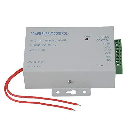 Dioche Tür-Zugangskontrollschalter Netzteil für Stromversorgungen, AC110V-240V DC 12V 3A 30W Netzteil-Controller