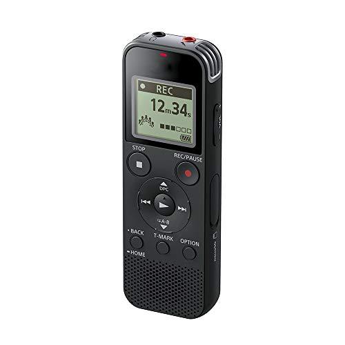 BEANZI ICD-PX470 Digitaler MP3-Breitband-Voice-Recorder, integrierter USB-Anschluss, 4 GB Speicher, SD-Speichersteckplatz und 55-Stunden-Aufnahme -