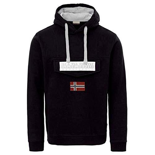 NAPAPIJRI Burgee Sweatshirt, Felpa Uomo, Nero (Black 041), Large