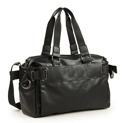 Handtaschen-Gezeiten-Mann-große Beutel-Freizeit-Kurier-Beutel-Schulter-Beutel PU-lederner Beutel-Beutel-Retro- Beutel-Beutel Black