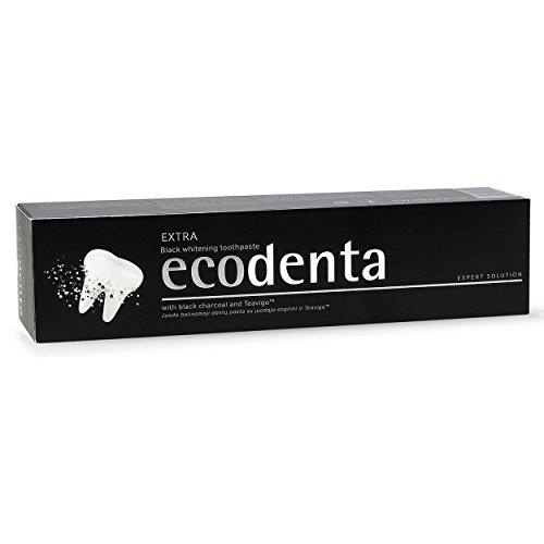 ecodenta Black Whitening schwarze Zahnpasta 100ml mit Aktivkohle, 2er Vorteilspack (2x 100ml)