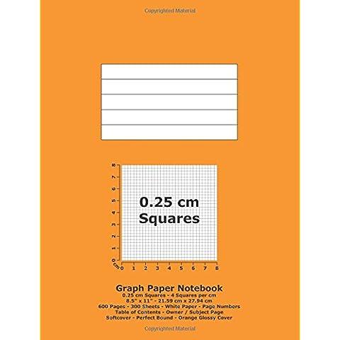 Graph Paper Notebook: 0.25 cm Squares - 8.5
