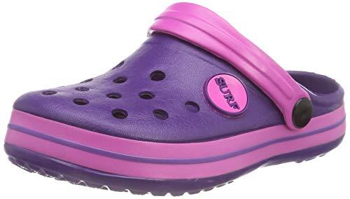 Kinder / Kleinkinder IAM Surf Unisex Jungen Mädchen Strand Clogs Sandalen Slipper Slip On Schuhe, Violett, 26 EU (6 UK)