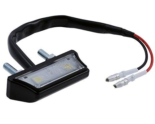 Nummernschildbeleuchtung /Kennzeichenbeleuchtung Motorrad schwarz