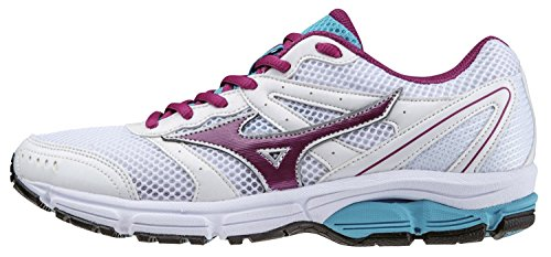 Mizuno Chaussure Running Femme Officielle 2014/2015 Wave 2 Impetus WOS J1GF141360 Blanc Violet Taille Turquoise Bianco Viola Turchese