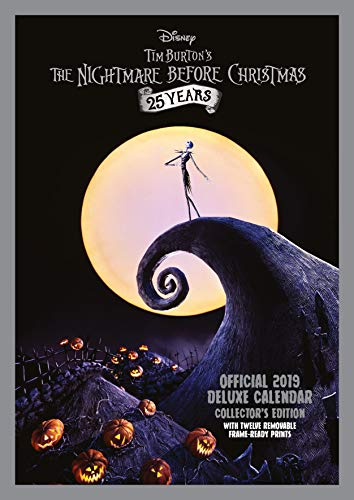 Nightmare Before Christmas Deluxe Official 2019 Calendar - A3 Format with Presentation Envelope par Nightmare Before Christmas