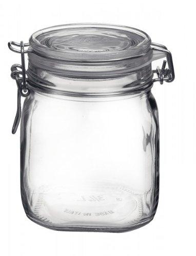 Bormioli 203420 Einmachglas mit Bügelverschluss, Original Fido, 0,75 L 0,75 L Glas
