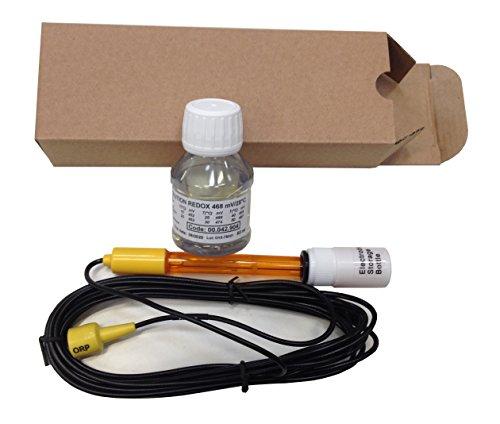 Kit Electrodo ORP (Redox) combinado con doble conexión, Range tamaño +/-1000mV completo de solución tampón para la calibración