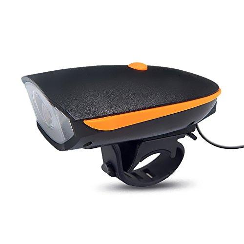 Kreuzung Ein Licht (Wiederaufladbare LED-Bike Lights, 2-in-1-Fahrrad Horn Licht mit 250Lumen & 120dB laut Horn (3Licht-Modus Optionen), breiter Abstrahlwinkel)