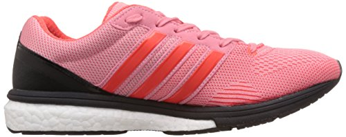 adidas Adizero Boston Boost 5 Tsf, Sneakers basses femme Rose (Super Pop F15/Solar Red/Core Black)