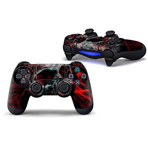 Morbuy PS4 Controller Skin Diseñador Piel Pegatina para Sony PlayStation 4 PS4 Slim PS4 Pro DualShock mando inalámbrico x 1 (Skull Red)