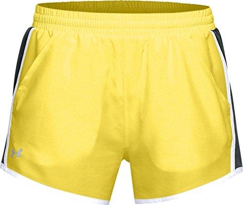 Pantalón corto amarillo para mujer
