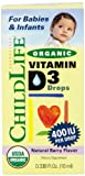 La vitamina D3 orgánica gotas, Berry con sabor natural, 400 UI - ChildLife