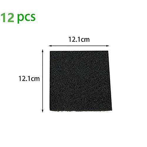 PIONIN 12Pcs Komposter Filter,Deodorant Aktivkohle, Küchentonnenkompost Statt Filter Aktivkohle Produkt Biochemischer Filterschaum Fischteich Filtration