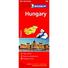 Hungary Map (Michelin National Map)