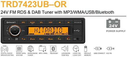 24 Volt Bluetooth PKW LKW Truck Bus Radio RDS & DAB Tuner MP3 WMA USB 24V 2910000431200 (Radio 24 Volt)