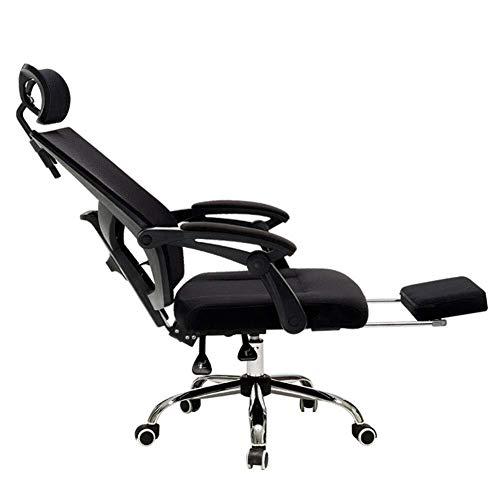 GXDHOME Boss Stuhl Bürostuhl Mit Netzrückenlehne Und Ergonomischem Design, Drehbar Und Mit Fußstützenhöhe Besserer Schutz Der Wirbelsäule Computer Stuhl (Color : A)