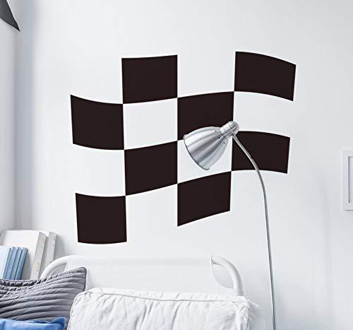 Wandaufkleber Schlafzimmer Checkered Racing Flag Wandaufkleber für Wohnzimmer Jungen Schlafzimmer