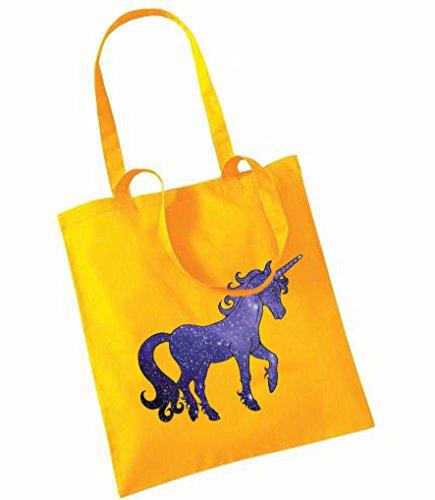 Unicorn auf Tragetaschen Gelb - Sonnenblumengelb