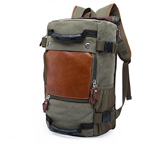 Escursionismo Zaino sportivo Outdoor Durable Climbing CampingCanvas Traveling Bag leggero Packable durevole viaggio zaino 40L ( Color : Black ) Green