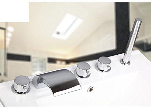 Teile Wasserhahn Badewanne (Messing Teilen warmen und kalten Wasserhähne/Bad Badewanne Wasserhahn Set von fünf/Fällt 5-Loch Armatur heiße und kalte Duschen-F)