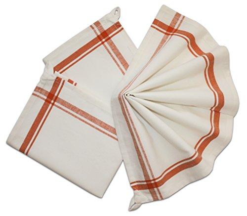 Tante Martha 's 100% Polypropylen Stitch EM up Retro Handtücher, orange Streifen