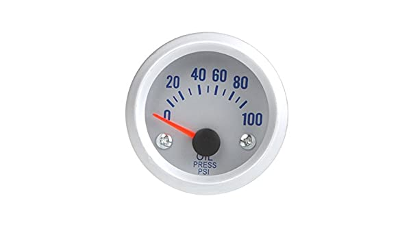 WINOMO Oil Pressure Gauge Tester Meter with 1//8 NPT Sensor Universal DC 12V Silver