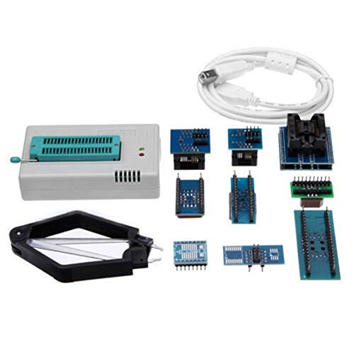 Mini Pro TL866CS USB BIOS Universal Programmer Kit With 9 Pcs Adapter blue Universal Programmer Adapter