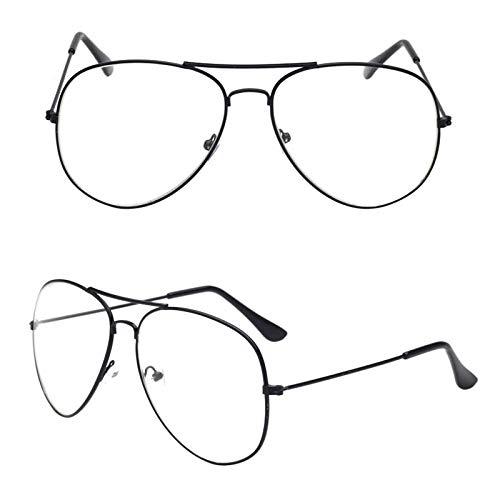YMTP Brillengestell Pilot Brillen Damen Herren Optische Brillen Fram