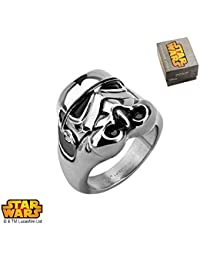 Star Wars Storm Trooper Anillo de acero inoxidable