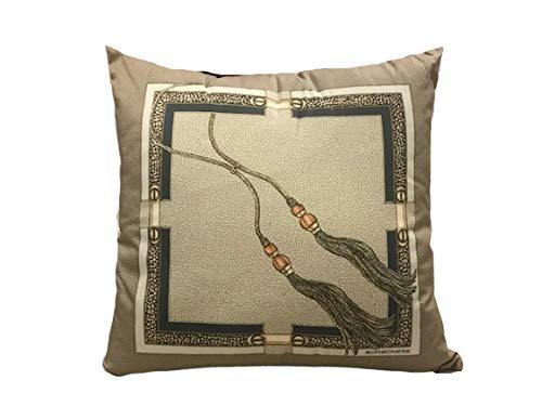 Borbonese cuscino ascot 45x45 tortora in raso di puro cotone