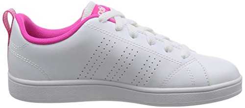 adidas Vs Advantage Clean K, Chaussures de Sport Garçon, Blanc, 28 EU Blanco (Ftwbla / Ftwbla / Rosimp)