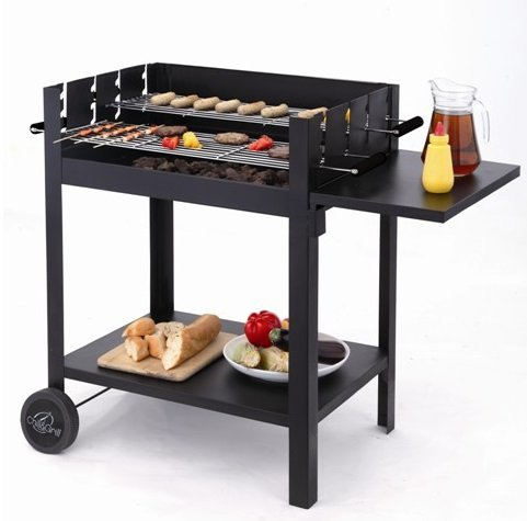 Easy Assembly - 1121 Charcoal BBQ Grill with Stand - No Screws Required