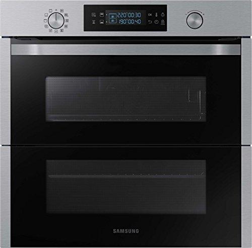 Samsung Dual Cook Flex NV75N5671RS/EG Backofen (Elektro/Einbau)/56,6 cm/Pyrolytische Selbstreinigung/Automatikprogramme/XXL-Garraum/Silber -
