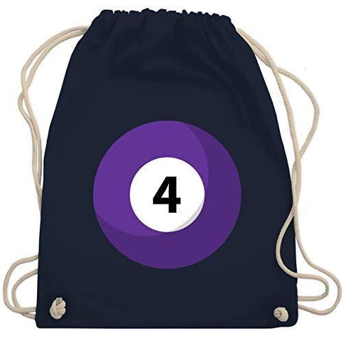 Karneval & Fasching - Billardkugel 4 Kostüm - Unisize - Navy Blau - WM110 - Turnbeutel & Gym Bag