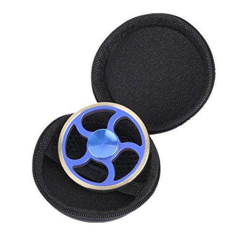 #ALISIAM Runden Rad fidget spinner metall Finger Spinner Spielzeug Fidget Toys Spielzeug Geschenke(+1 Verpackungs box) (Blau)#
