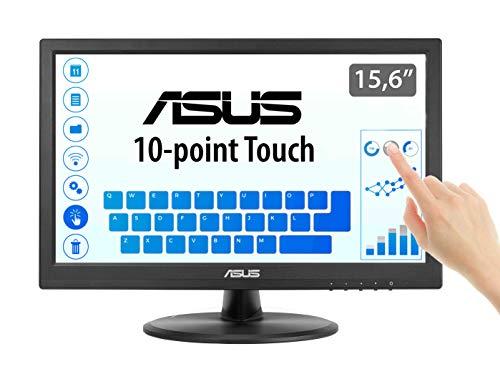 Asus VT168N 39,6 cm (15,6 Zoll) Monitor (VGA, DVI, 10ms Reaktionszeit, Touch) schwarz Asus Touchscreen