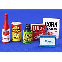 12th Scale Dolls House Kitchen Accessory - Provisions Set Of 6 Food /Cleaning Items S10438